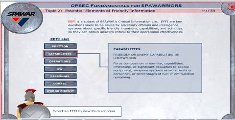 OPSEC Course Interface