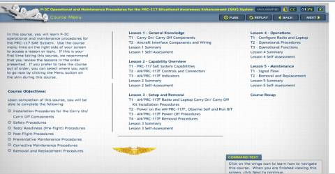 P-3C Course Interface